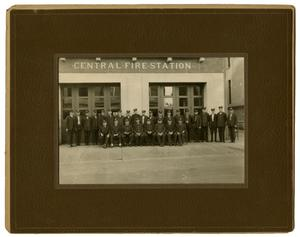 Primary view of object titled '[Staff of Central Fire Station]'.