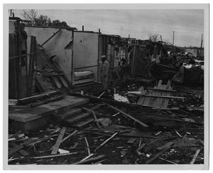 Primary view of object titled '[Tornado Destruction in Dallas, Texas]'.