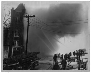 Primary view of object titled '[4 Alarm Fire at Good and Bryan Street]'.