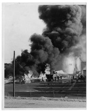 Primary view of object titled '[Fire in Irving, TX]'.