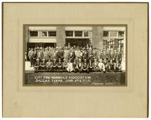 Primary view of object titled '[City Fire Marshals' Association, Dallas, Texas, June 4th & 5th, 1917]'.