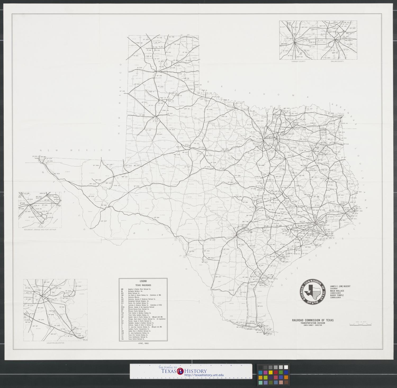 Railroad Map Of Texas.Texas Rail System Map The Portal To Texas History