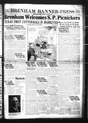 Primary view of Brenham Banner-Press (Brenham, Tex.), Vol. 47, No. 74, Ed. 1 Saturday, June 21, 1930