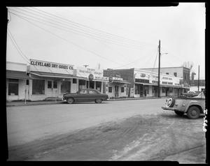 Primary view of object titled 'Business District of Cleveland, Texas'.