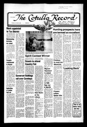 The Cotulla Record (Cotulla, Tex.), No. 24, Ed. 1 Thursday, October 22, 1981