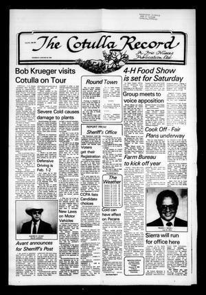 The Cotulla Record (Cotulla, Tex.), Ed. 1 Thursday, January 26, 1984