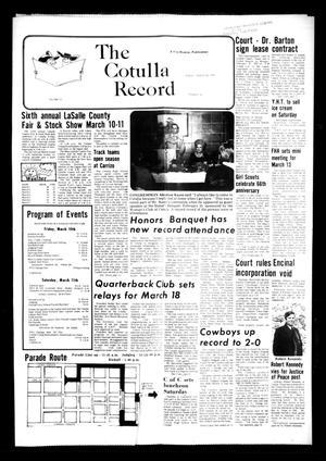 The Cotulla Record (Cotulla, Tex.), Vol. 11, No. 50, Ed. 1 Friday, March 10, 1978
