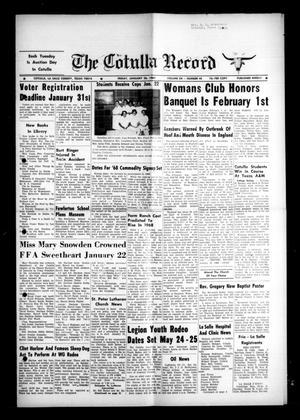 The Cotulla Record (Cotulla, Tex.), Vol. 12, No. 48, Ed. 1 Friday, January 26, 1968