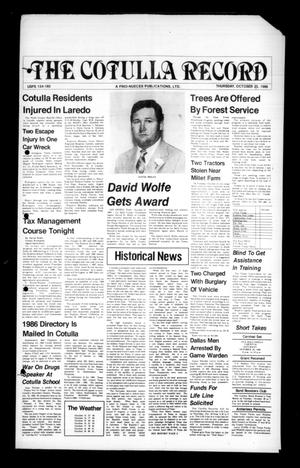 The Cotulla Record (Cotulla, Tex.), Ed. 1 Thursday, October 23, 1986