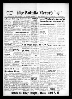 The Cotulla Record (Cotulla, Tex.), Vol. 12, No. 30, Ed. 1 Friday, September 30, 1966