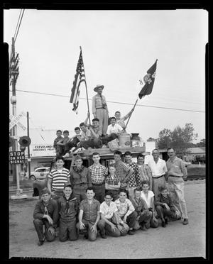 Primary view of object titled 'Boy Scout Troop and their Leaders'.