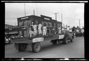 Primary view of object titled '[Baseball Team in a Parade]'.