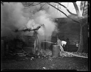 Primary view of object titled '[Men Dousing Fire]'.