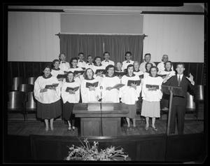 Primary view of object titled 'First  Baptist Church Choir'.