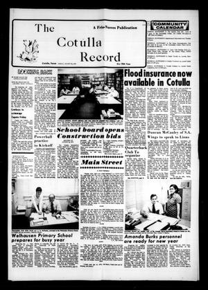 Primary view of object titled 'The Cotulla Record (Cotulla, Tex.), Vol. 78, No. 26, Ed. 1 Friday, August 29, 1975'.