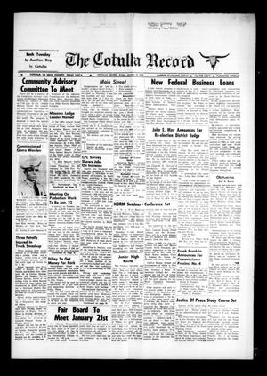 Primary view of object titled 'The Cotulla Record (Cotulla, Tex.), Vol. 77, No. 47, Ed. 1 Friday, January 18, 1974'.