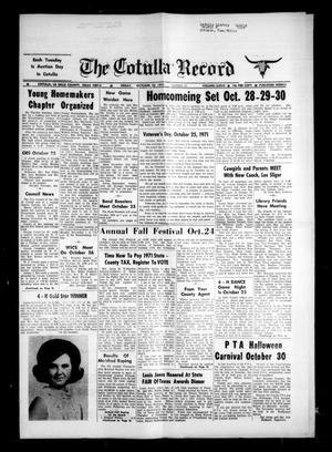The Cotulla Record (Cotulla, Tex.), Vol. 77, No. 39, Ed. 1 Monday, November 22, 1971