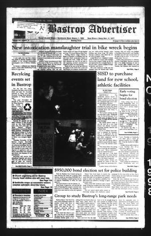 The Bastrop Advertiser (Bastrop, Tex.), Vol. 145, No. 75, Ed. 1 Thursday, November 19, 1998