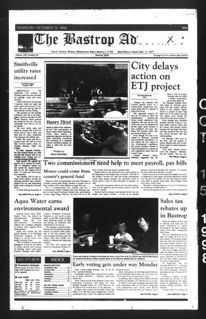 The Bastrop Advertiser (Bastrop, Tex.), Vol. 145, No. 65, Ed. 1 Thursday, October 15, 1998