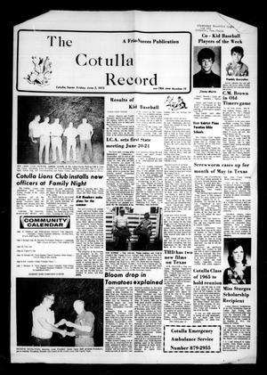 The Cotulla Record (Cotulla, Tex.), Vol. 78, No. 13, Ed. 1 Thursday, June 5, 1975