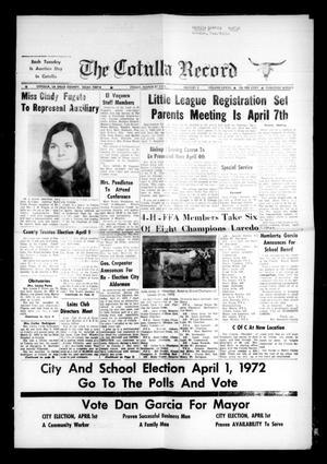 The Cotulla Record (Cotulla, Tex.), Vol. 77, No. 5, Ed. 1 Friday, March 31, 1972