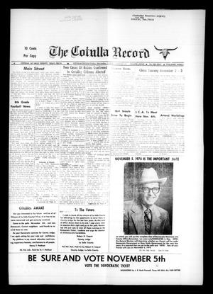 Primary view of object titled 'The Cotulla Record (Cotulla, Tex.), Vol. 77, No. 36, Ed. 1 Friday, November 1, 1974'.