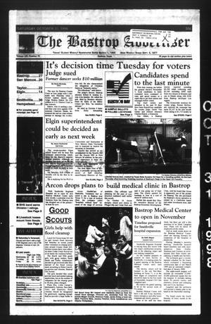 The Bastrop Advertiser (Bastrop, Tex.), Vol. 145, No. 70, Ed. 1 Saturday, October 31, 1998