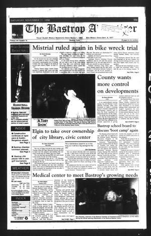 The Bastrop Advertiser (Bastrop, Tex.), Vol. 145, No. 76, Ed. 1 Saturday, November 21, 1998