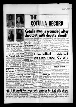 Primary view of object titled 'The Cotulla Record (Cotulla, Tex.), Vol. 77, No. 53, Ed. 1 Friday, February 28, 1975'.