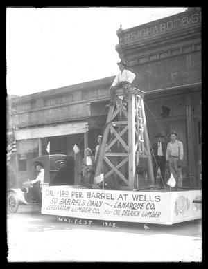 Primary view of object titled '[Brenham Lumber Company Float]'.