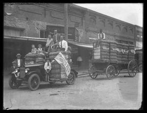 Primary view of object titled '[Car & Cargo Wagon]'.