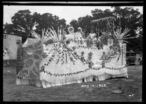 Primary view of object titled '[Parade Float at Maifest]'.