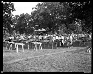 Primary view of object titled '[Crowd at Maifest]'.