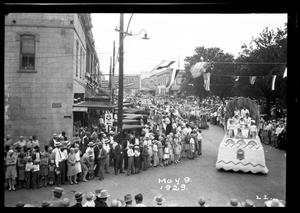 Primary view of object titled '[Parade at Maifest]'.
