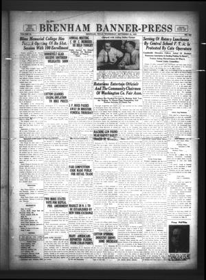 Brenham Banner-Press (Brenham, Tex.), Vol. 50, No. 152, Ed. 1 Wednesday, September 20, 1933
