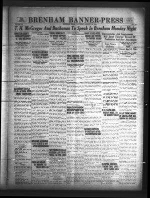Brenham Banner-Press (Brenham, Tex.), Vol. 50, No. 125, Ed. 1 Saturday, August 19, 1933