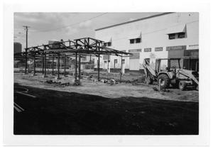 Primary view of object titled '[Construction Work at Dallas Farmer's Market]'.