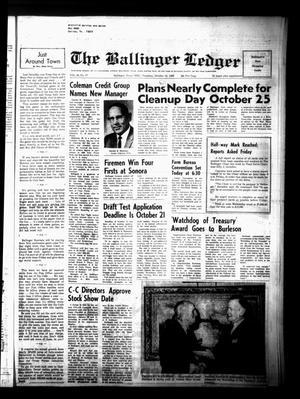 Primary view of The Ballinger Ledger (Ballinger, Tex.), Vol. 80, No. 17, Ed. 1 Thursday, October 13, 1966