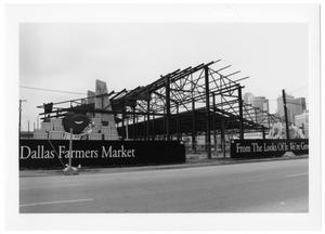Primary view of object titled '[Construction of Dallas Farmer's Market]'.