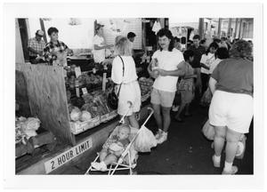 Primary view of object titled '[Customers Purchasing Vegetables]'.