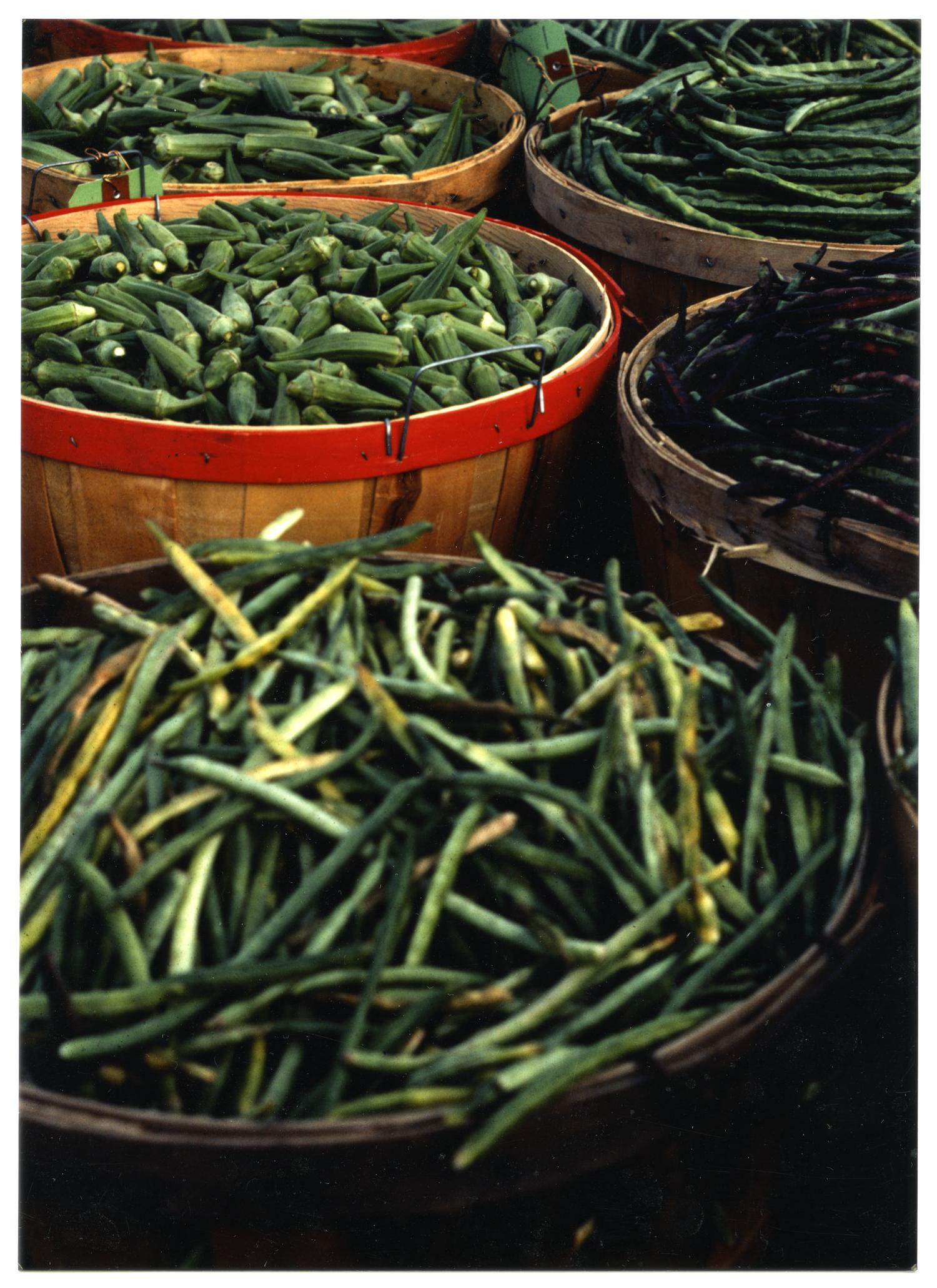 [Display of Green Beans and Okra]                                                                                                      [Sequence #]: 1 of 2