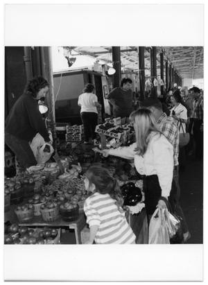 Primary view of object titled '[Customers at Produce Section]'.