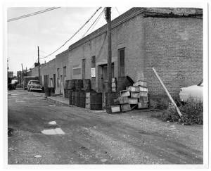 Primary view of object titled '[Alley Near Dallas Farmer's Market ]'.