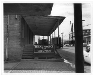 Primary view of object titled '[Texas Produce Co. Storefront]'.