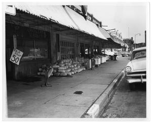Primary view of object titled '[Grocery Market Storefront]'.