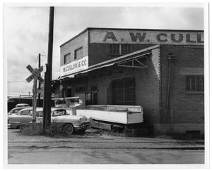 Primary view of object titled '[A.W. Cullum & Co. Loading Dock]'.