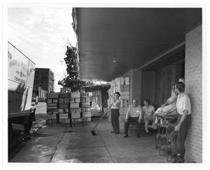 Primary view of object titled '[Loading Dock with Workers]'.