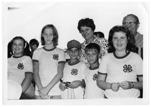 Primary view of object titled '[4-H Children at Farmer's Market]'.