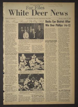 Primary view of object titled 'White Deer News (White Deer, Tex.), Vol. 13, No. 35, Ed. 1 Thursday, October 12, 1972'.