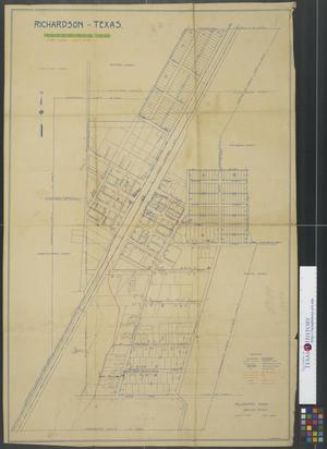 Primary view of object titled '[Map of] Richardson, Texas. Sewer System.'.